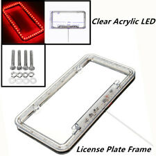 "54 Red LED Lighting Acrylic Plastic License Plate Cover Frame,12.5"" x6.3"" x .75"""