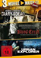 DIARY OF THE DEAD/BLOOD CREEK/URBAN EXPLORER 3 DVD NEU