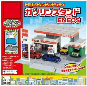 TAKARA TOMY Tomica Town Build City Gas Station ENEOS From Japan F/S