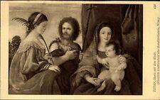 "Alte Künstlerkarte J. L. WIEN 1914 Maler Künstler TITIAN ""Maria mit dem Kinde"""