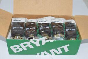 Box of 10 NEW BRYANT BRY5362 20A Duplex Receptacle 125VAC 5-20R Brown