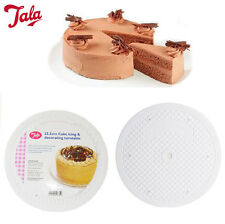 Turntable Cake Decor 360 Rotating Icing TALA White 25.5CM Flat Turn Table Stand