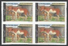 Burkina Faso #981 Paris Exhibition DOGS IMPERF block of 4 MNH