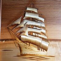 Artistic Pamiatek Studio Handicraft Rare Polish Artistic Art Form Ship in Wood