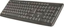 Trust Ziva Keyboard USB Tastatur Schwarz Spritzwassergeschützt deutsch NEU OVP