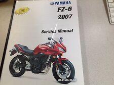 2007 Yamaha FZ6 FZ-6 Workshop Repair Shop Service Manual FACTORY NEW