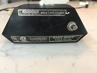 Realistic Bulk Tape Eraser Hand Held # 44-745 Cassette 4&8 Track Reels