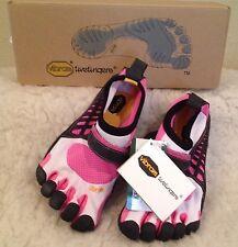 NWT VIBRAM FIVEFINGERS KSO Kids BAREFOOT RUNNING Shoes PINK Girls 32 Sz 1.5 - 2