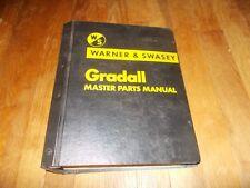 Warner Swasey Gradall Master Parts Manual