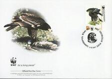WWF  UCCELLI  FDC GEORGIA BUSTA PRIMO GIORNO 2007 AQUILA  1/4