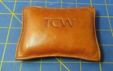 Genuine Leather Paper Weight Office Decor Desk Organizer Pouch. Tcw.