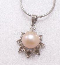 Real Fresh Water Pearl Birthday Xmas Wedding White Princess Star Necklace