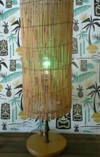 Retro Tiki Style Hawaiiana Funky Luau Decor lamp Matchstick Rattan Shade