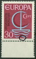 Bund 520 I sauber postfrisch Plattenfehler PF CEPT 1966 Michel 50,00 € MNH