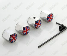 Chrome Anti-theft Wheel Stem Air Tire Valve Cap England UK Flag Auto Accessories