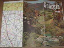 Vintage 1971 Georgia Travel Map Brochure