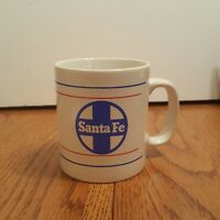 Santa Fe Railroad - Vtg Coffee Mug Train  Staffordshire England Kiln Craft