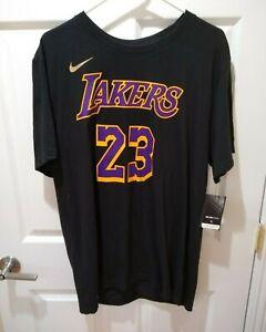 Los Angeles Lakers LeBron James Earned Edition T-shirt - Nike Men's XL - Black