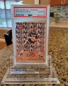 1992 93 FLEER ULTRA ALL - ROOKIES SHAQUILLE O'NEAL RC #7 PSA 10 LAKERS MAGIC