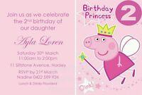 Birthday Party Invitations Girls Invite Peppa Pig Rapunzel Princess Castle
