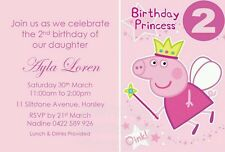 Birthday Party Invitations Girls Invite Peppa Pig Rapunzel Princess Castle