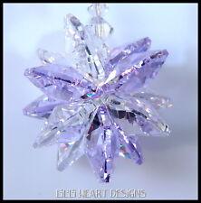 m/w Swarovski Crystal Violet Lt Purple with Clear Sun Catcher Lilli Heart Design