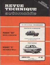 RTA : Revue Technique Automobile : Peugeot 504 - Renault 12 - Jan 1976 - No 352