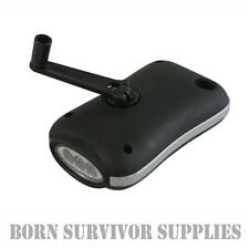 WIND UP DYNAMO LED TORCH - Crank Handle Emergency Flashlight Light Eco Pocket
