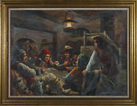 Marsden Prophet FRSA (1933-1993)  - Signed & Framed 20th Century Oil, Gambling
