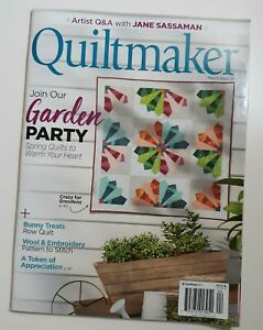 Quiltmaker March 2021 Magazine Spring Quilts to Warm Your Heart ~NEW ~FREE SHIPP