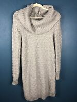 Anthropologie Sparrow Womens Size Small Knit Sweater Dress Merino Wool Cowl Neck