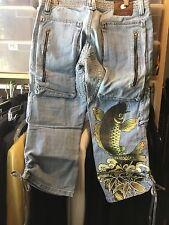 Women's BNWT Antik Denim Capri Cargo Koi Jeans 31