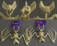(2) Plastic Halloween Bat Skeletons 9.625 X 11.875 NWT