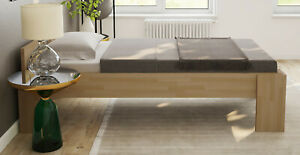 Bett Einzelbett 120x200 Fuß I Gäste Senioren Massivholzbett Buche Futonbett