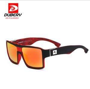 DUBERY Men Sport Polarized Sunglasses Outdoor Driving Square Fashion Goggles