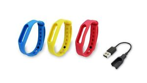 Skywin Replacement Go-tcha Charging Cable and Colored Wristbands - Red Blue a...