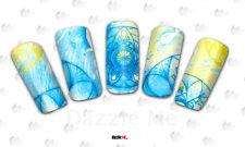 Calcomanías de transferencia de Agua Pegatina de Arte en Uñas Arte Decorativo peces espirales (DC200)