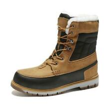 Winter Mens Mid Calf Snow Boot Casual Outdoor Fur Inside Warm Non-slip Shoes New