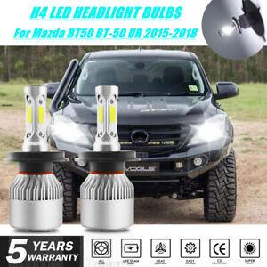 2X H4 LED Headlight Globe Bulb Auto Lamp for Mazda BT50 BT-50 UR 2015-2018