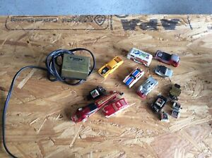 Vintage Tyco Slot Car and Chassis Lot Trick Truck Tyco Transformer
