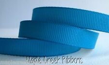 """3yd of Turquoise 3/8"""" Grosgrain Ribbon 3/8"""" x 3 yards neatly wound"""