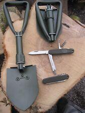 KLAPPSPATEN + Taschenmesser BW Messer Hacke Mini Spaten Schaufel Schüppe
