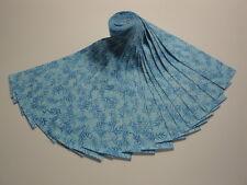 "Jelly Roll-Dark Blue Leaves-Aqua B/G-Fusion Col.-Kaufman-20-2-1/2"" x 44"" Strips"