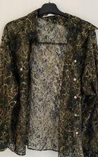 Zara Snake Print Shirt/blouse Size 16
