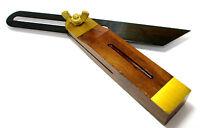 Hardwood Sliding Bevel Trade Quality 7.5 Inch with Brass Inlay Carpentry WW027