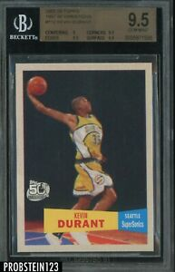 2007-08 Topps 1957-58 Variation #112 Kevin Durant RC Rookie BGS 9.5 GEM MINT