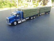 1/64 dcp custom kenworth double pup trailer hay load semi flatbed PRO BUILD