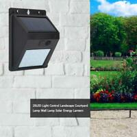 20LED Solar Light Waterproof Outdoor Garden Pathway Light Control Wall Lamp