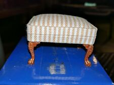 dollhouse miniatures foot stool  platinum edition