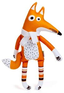 Fox With White Scarf Soft Toy, 47CM  Christmas Gift, Soft Toy,